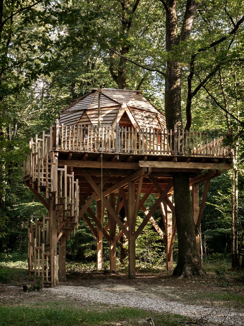 Cabane Des Grands Reflets cabane dans les arbres cabane dôme - coucoo grands reflets