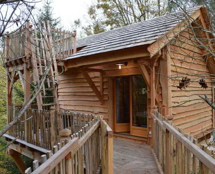 Cabane dans les arbres palombi re bazadaise domaine ecotelia location cabane insolite - Cabane dans les arbres avec jacuzzi sud ouest ...